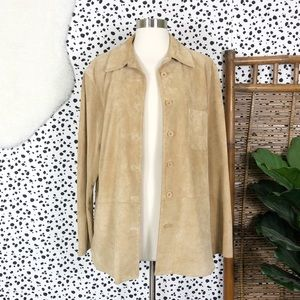 Vintage | Suede Willi Smith Leather Button Jacket